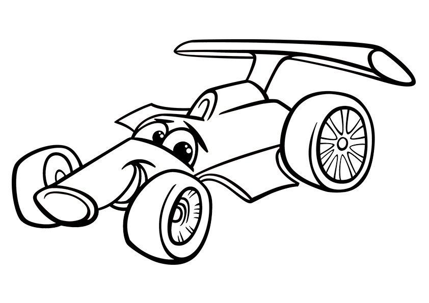 Cartoon Car Sport Printjpg Clipartsco