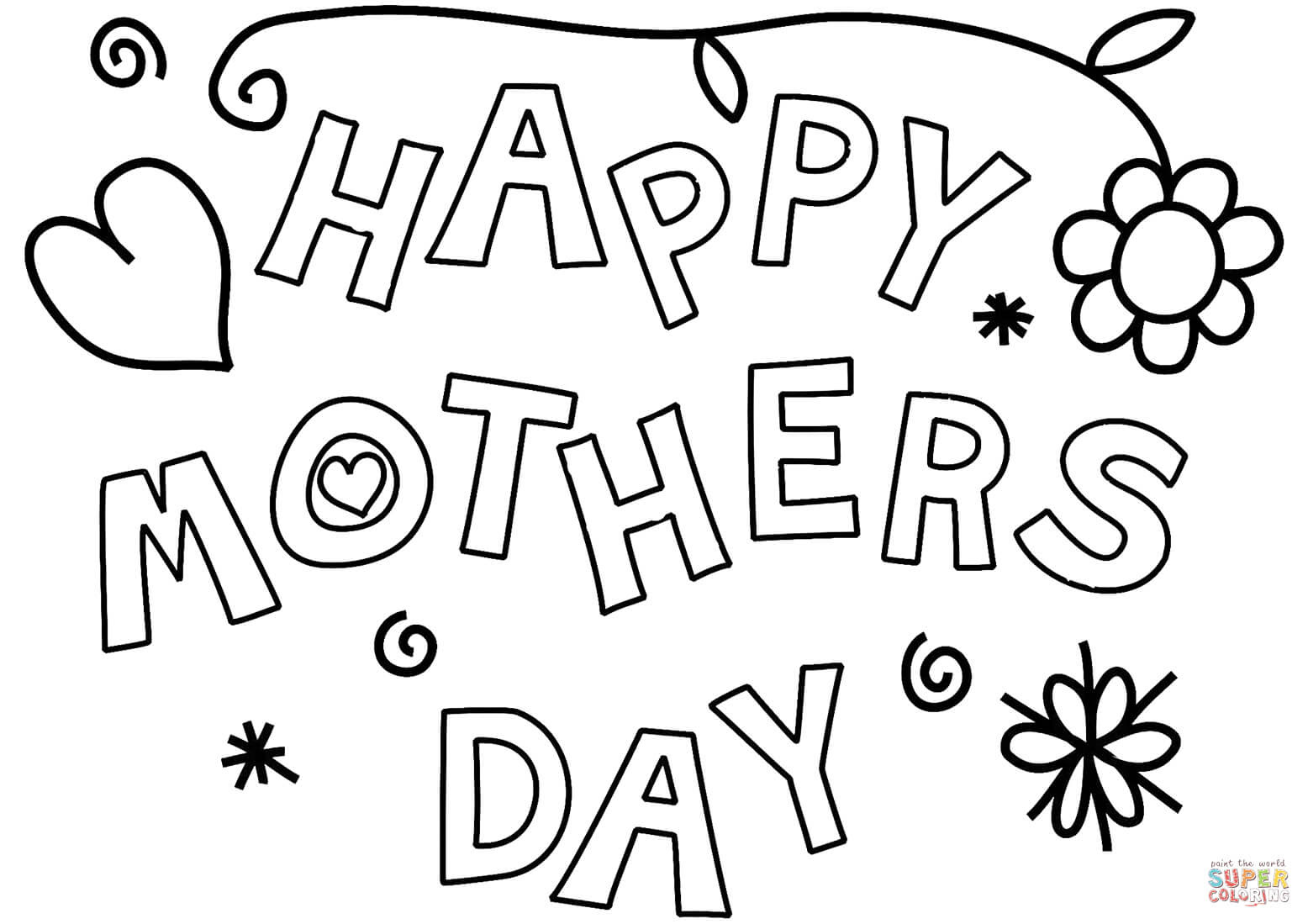 Happy Mother's Day coloring page | Free Printable Coloring ...