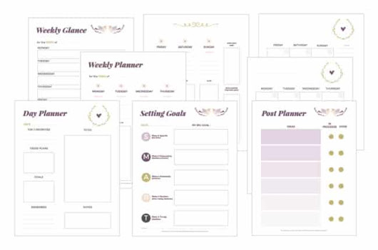 Free Printable Blogging Planner - Blog Planner Printable
