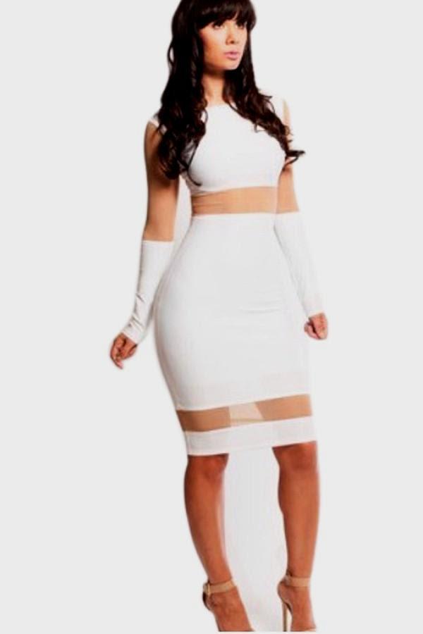 Plus size long sleeve bodysuit