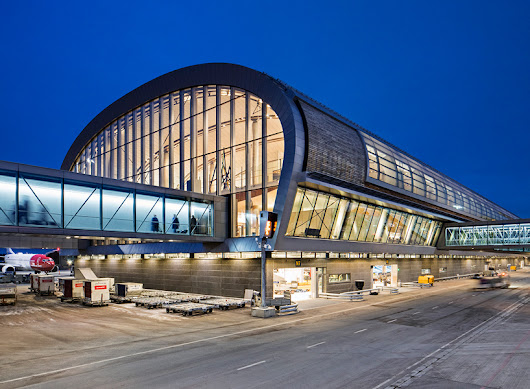 nordic office of architecture opens terminal at oslo airport