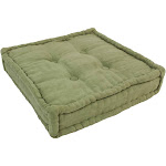25-inch Square Corder Floor Pillow with Button Tufts