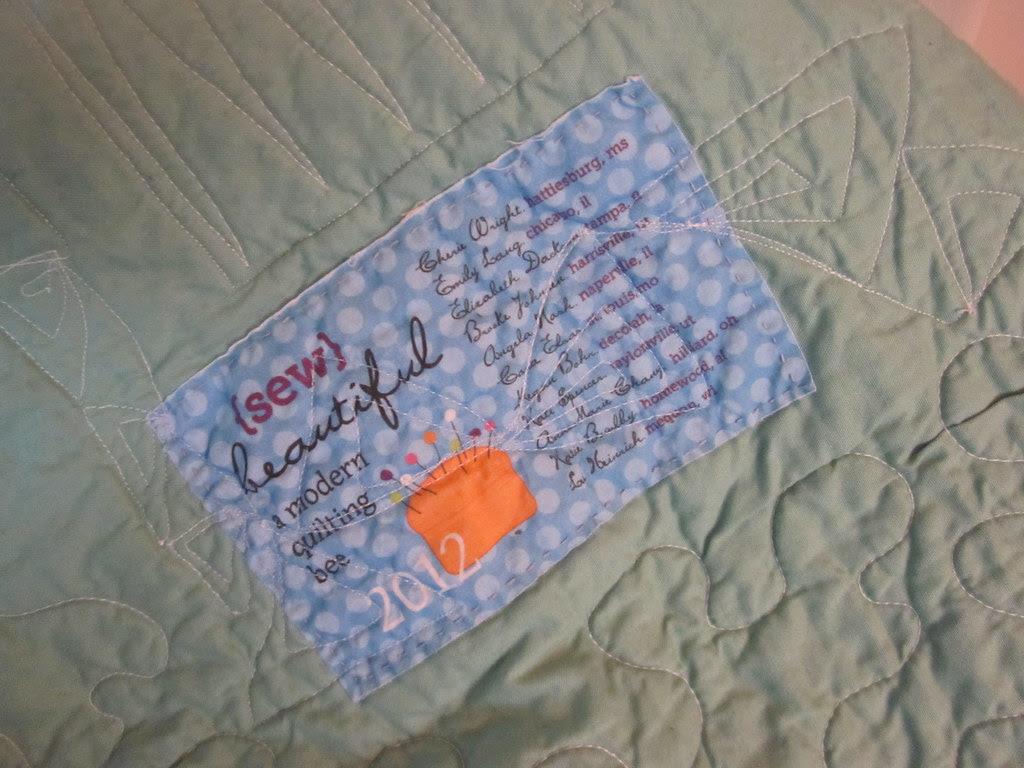 spoonflower quilt label