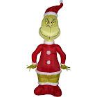Gemmy Airblown Grinch as Santa