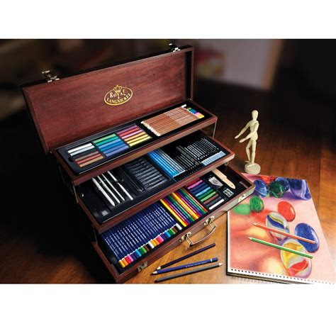 sketching drawing deluxe art set great gifts  artists