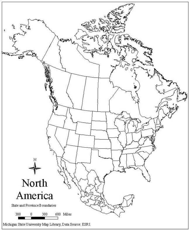 Geography Blog: Printable Maps of North America