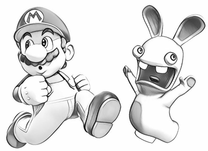 Disegno Da Colorare Raving Rabbids Raving Rabbids E Super Mario 10