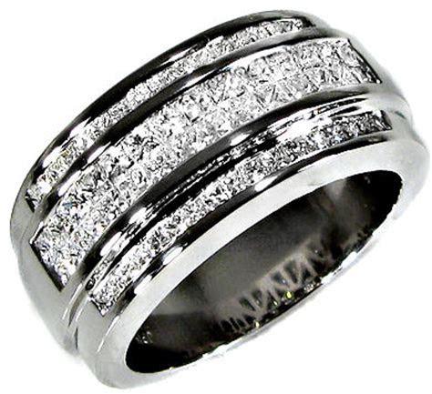 Diamond Wedding Bands for Men   WardrobeLooks.com