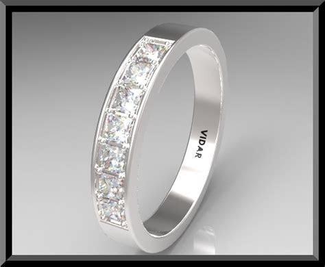 Women Princess Cut Diamond Wedding Band   Vidar Jewelry