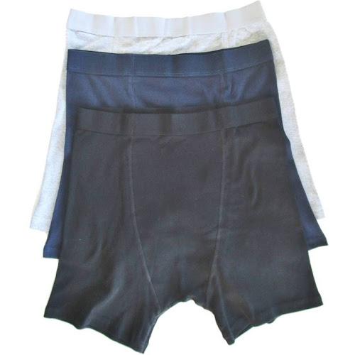 Stashitware Stash Pocket Boxer Brief Variety 3 Packs Men's Black, Blue, Grey
