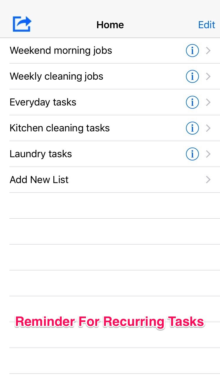 Easy Reminder For Recurring Tasks - Daily To Do List by Qi Chen