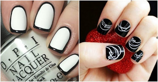 Beautiful Black And White Nail Designs | How To Instructions