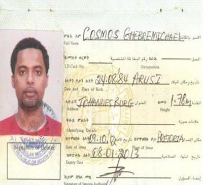 Eritrean laissez-passer found on a Ginbot Sebat fighter 3