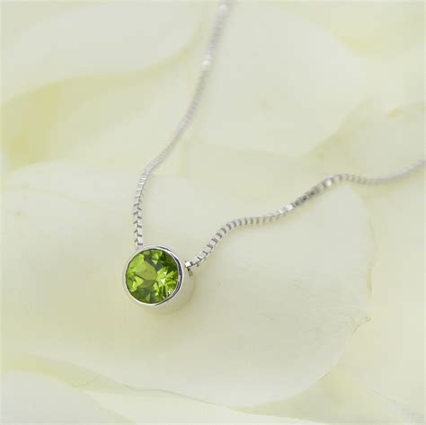Sterling silver Peridot Necklace   Perdiot Jewellery by
