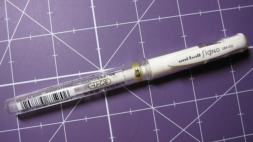 Uni Ball Signo White Gel Pen