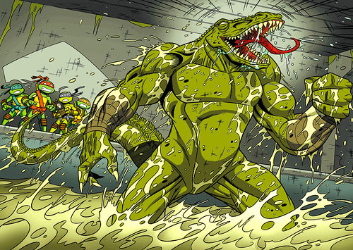"Titan's UK ""Teenage Mutant Ninja Turtles Magazine"" upcoming 'Leatherhead'.. 2 page spread  [[ Courtesy of Steve Murphy ]]"