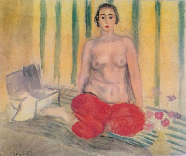 Recovered: Odalisque in Pants, painted by Henri Matisse in 1925, left and the fake, right