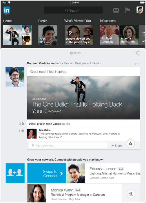 linkedin reinvents ipad app