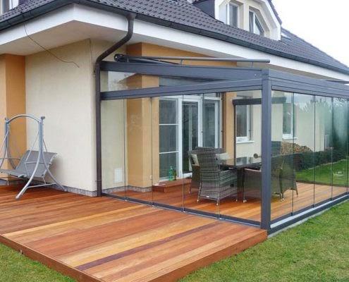 Dekorativer Innenausbau Terrassen Schiebetur Einstellen