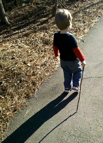Ev and his shadow