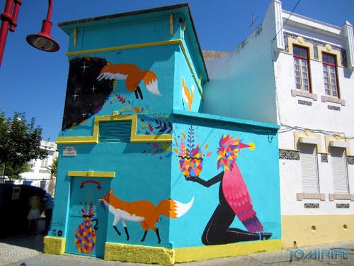 Arte Urbana by Kruella d'Enfer - Raposas, Fox portal na Figueira da Foz Portugal - Edifício (2) [en] Urban art by Kruella d'Enfer - Foxes, Fox portal in Figueira da Foz, Portugal
