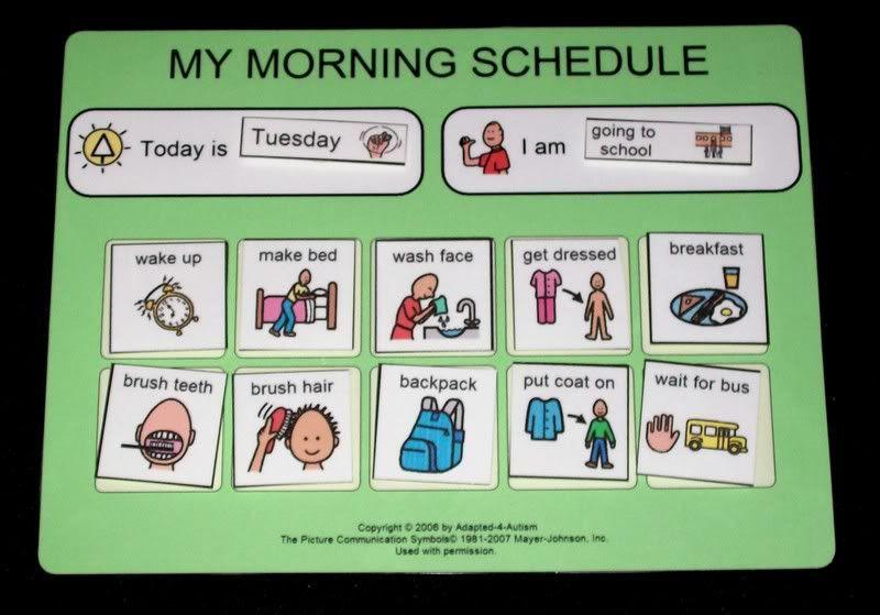 autism daily schedules | Autism Daily Schedule | random tips ...
