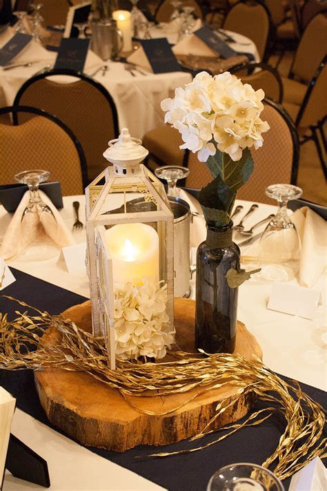 South Dakota Wedding with Gold Sparkle, Navy Blue and True