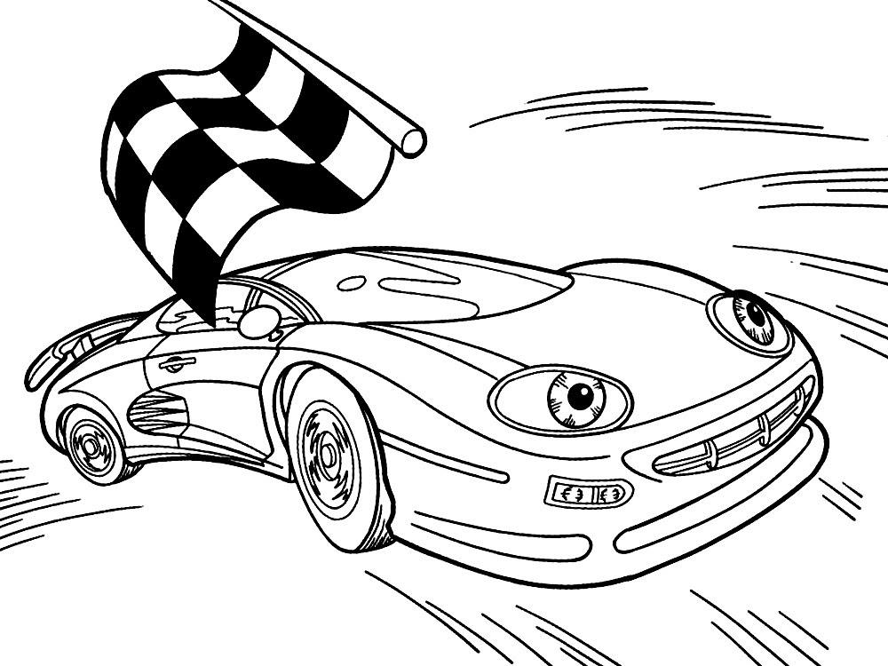 malvorlagen rennautos kostenlos  zeichnen und färben