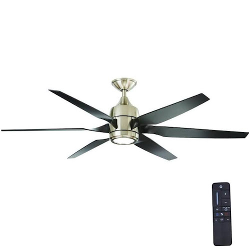 Home decorators collection kelbra 60 in led indoor brushed nickel ceiling fan with light kit and remote control