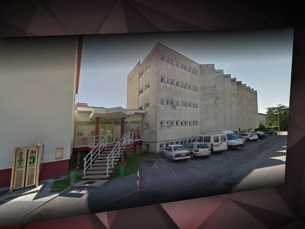 Hotel onde as mulheres se prostituiam na Eslovênia (Foto: Reprodução/TV Globo)