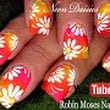 DIY Neon Daisy Nails | Hot Flower Nail Art Design Tutorial