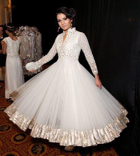 white wedding dress   Indian Weddings: Trousseau by Soma