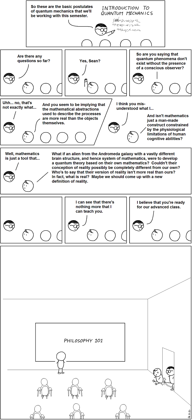 The TOF Spot: The Advanced Class from Abstruse Goose