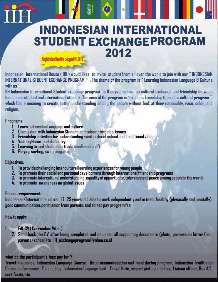 Indonesian International Student Exchange Program 2012 IISEP  Pujiati saris Blog