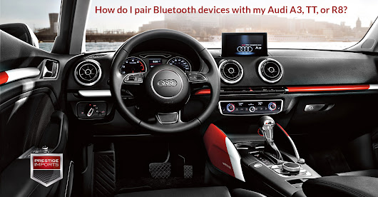 How do I pair Bluetooth devices with my Audi A3, TT, or R8