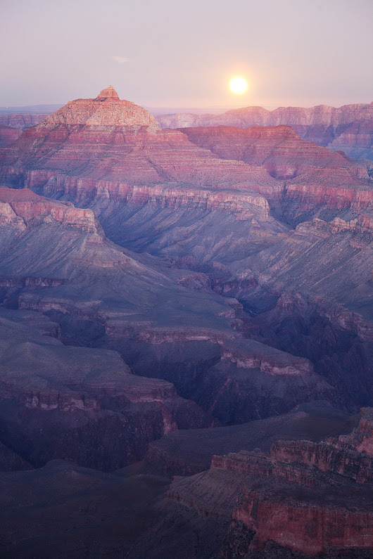 Supermoon Rise from Shoshone Point, South Rim, Grand Canyon National Park, Arizona