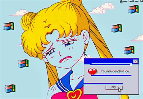 aesthetic ecchi vaporwave edit sailor moon vaporwave