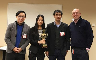 A Victory to Savor: UConn MSBAPM Team Wins Hard-Fought Travelers Analytics Case Competition