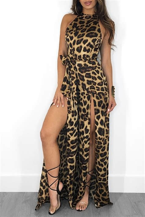 sexy womens jumpsuit sleeveless rompers clubwear slit