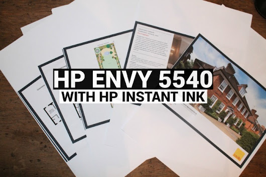 Review - HP Envy 5540 with Hp Instant Ink - U me and the kids