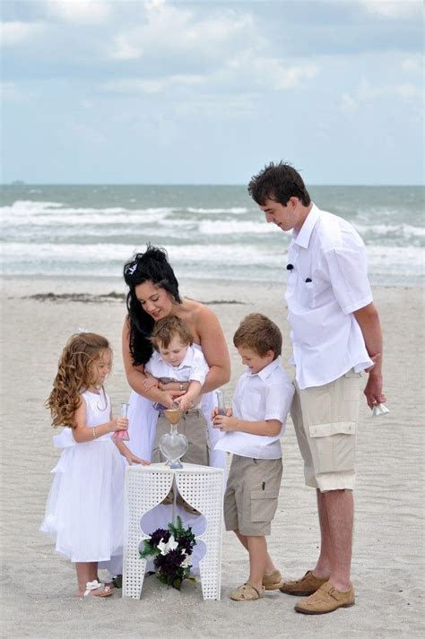 Family Sand Unity during a wedding ceremony in Cocoa Beach