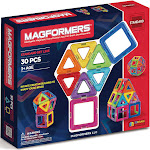 Magformers Magnetic Power Magic Rainbow Set - 30 count