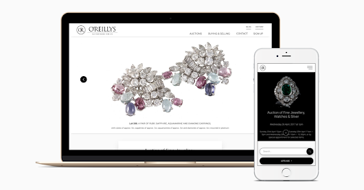 O'Reilly's Auction Rooms New Website Launched - Point Blank