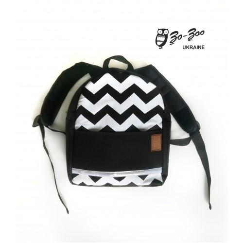 Блог интернет-магазина детских рюкзаков и аксессуаров Zo-Zoo Ukraine  Детский  рюкзак непромокаемый Зигзаг черный f05be02314008