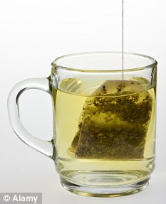 Healthy option: 'If you replace alcohol with herbal tea, it's not surprising that your skin will look clearer
