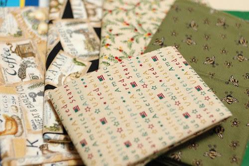 American cotton fabrics from my friend