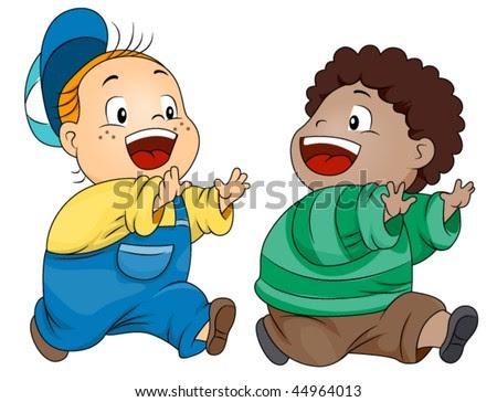children playing clip art. stock vector : Children