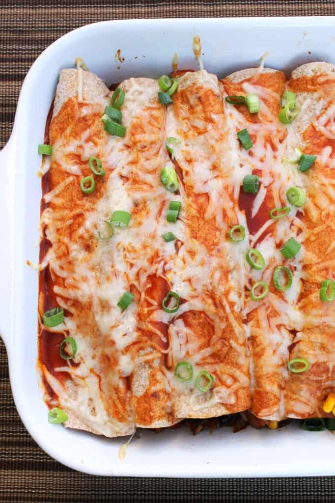 Cheesy Vegetable Enchiladas 2