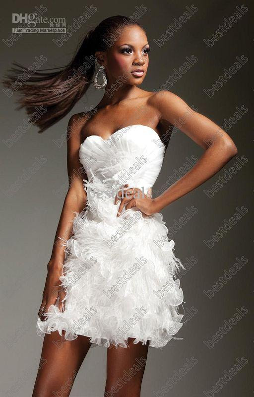 Short evening dresses white