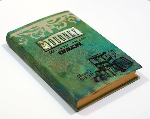 Journey - altered book cover